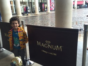 Waiting outside the Magnum Experience